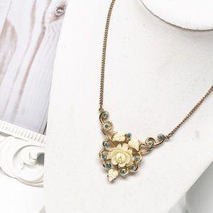 Vintage Lucite Rose Necklace